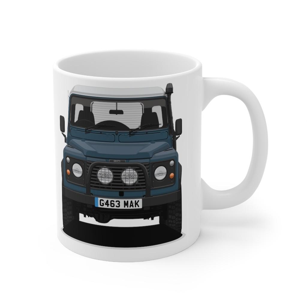 """Land Rover Defender 90 – """"Blue"""" – Mug 11oz – Bishop+Rook Trading C ..."""
