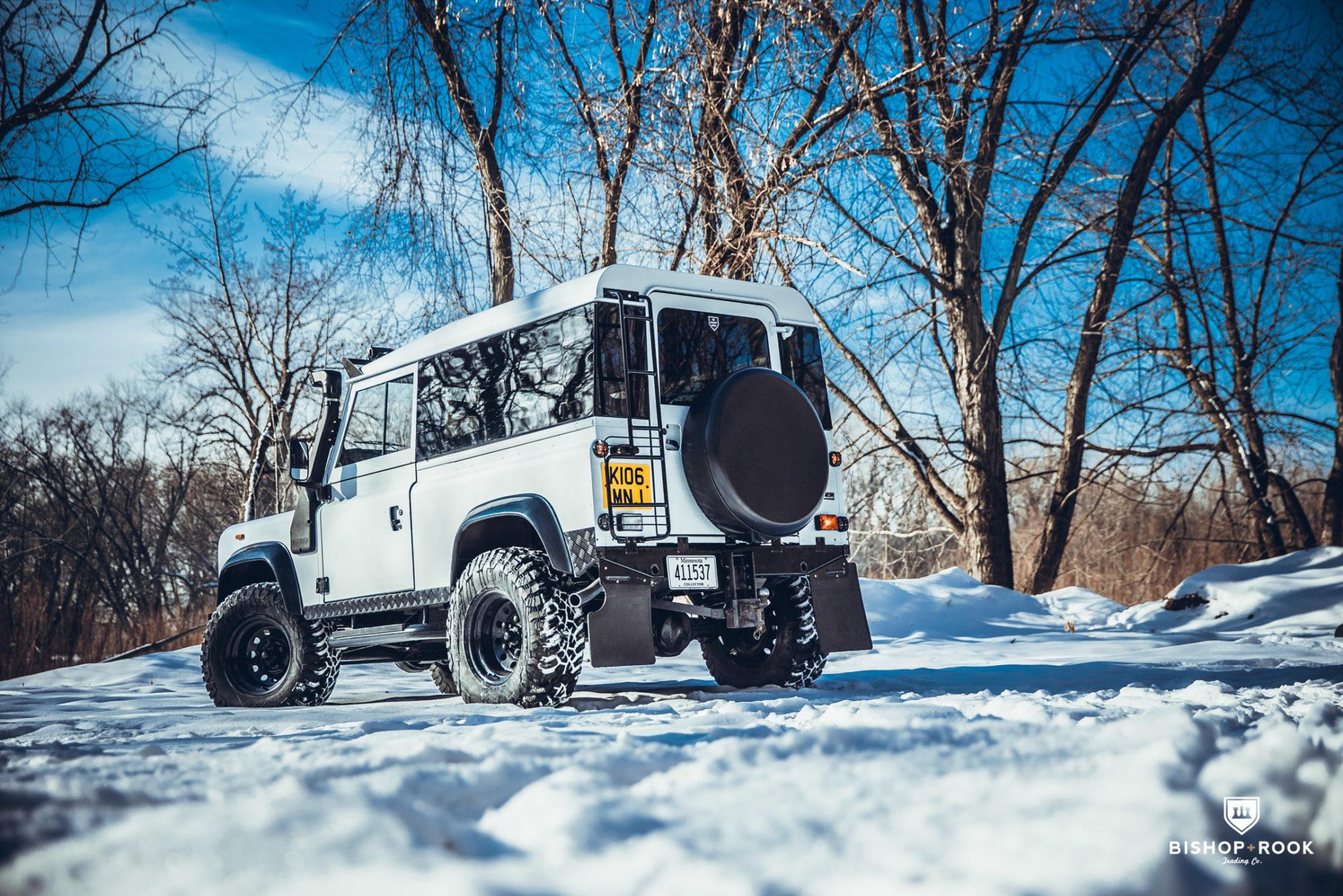 White Rebel – Land Rover Defender 90 – Bishop+Rook Trading Company