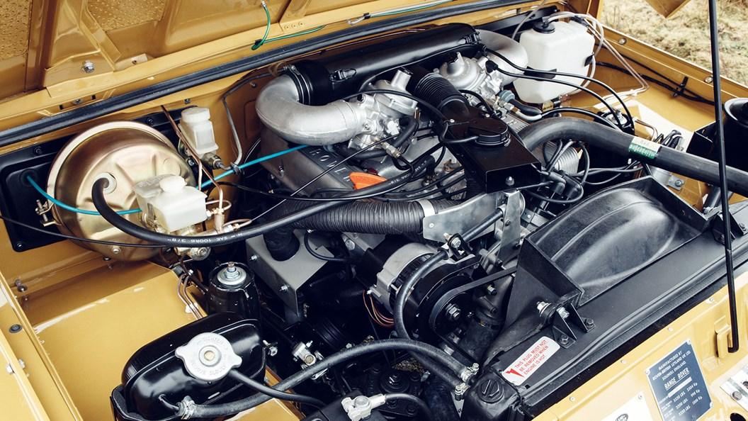 3.5-litre petrol V8 lovingly restored
